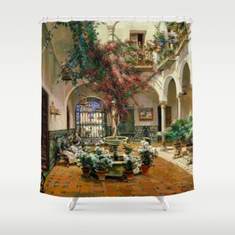 Interior Courtyard Seville Spain by Manual Garcia Y Rodriguez Shower Curtain