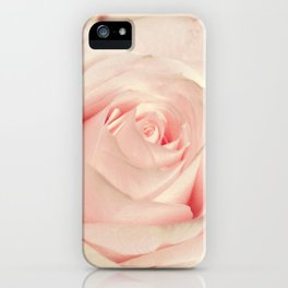 Pink rose photography Flower print Floral bedroom decor blush Gift for her iPhone Case