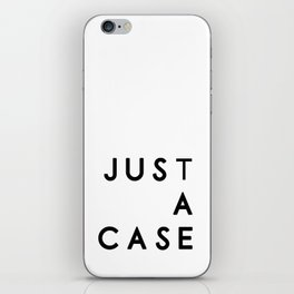 Simple wins typography in white iPhone Skin