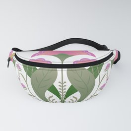 Folk art Spring flower garden Fanny Pack