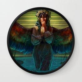 The Bird Bath Wall Clock