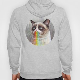 Cat Tastes the Grumpy Rainbow Hoody