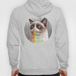 Cat Tastes the Grumpy Rainbow Hoody