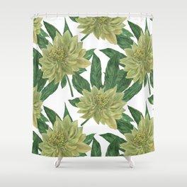 Big Leaves Japanese Aralia Fatsia japonia Shower Curtain