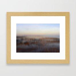 Cold Winter Beach Framed Art Print