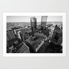 Fort Worth in Black and White Art Print