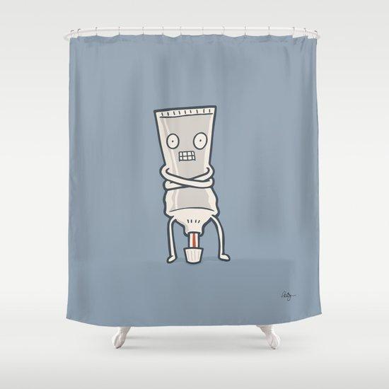 Bad Taste Toothpaste  Shower Curtain