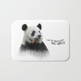 Panda contemplator Bath Mat