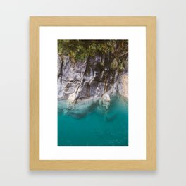 Blue Pools and the Makarora River on the West Coast of the South Island of New Zealand. Framed Art Print