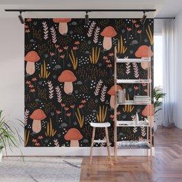 Fairy Mushroom Garden Wall Mural