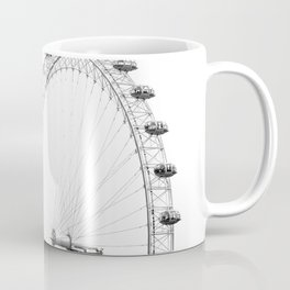 Ferris Wheel (Black and White) Coffee Mug