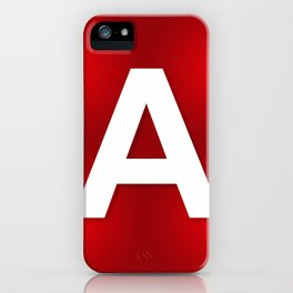 Red letter A iPhone Case