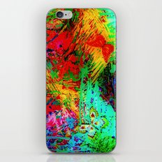 BUTTERFLY FEVER - Bold Rainbow Butterflies Fairy Garden Magical Bright Abstract Acrylic Painting iPhone Skin