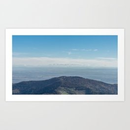 View at the Alps Art Print