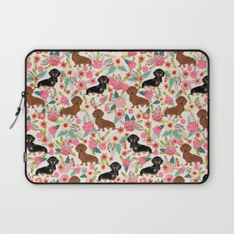Dachshund florals pattern cute dog gifts by pet friendly dog breeds Laptop Sleeve