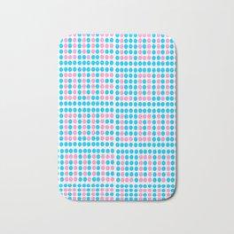 Love polka dot -polka dot, pattern,dot,polka,circle, disc,point,abstract,minimalism Bath Mat