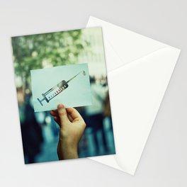 syringe symbol Stationery Cards