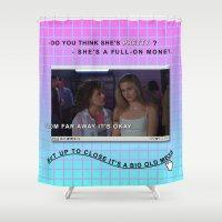 clueless Shower Curtains featuring Clueless x Monet by Lisa-Roxane Lion