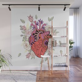 Anatomy of the heart Wall Mural