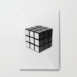 Minimalist Rubik's cube Metal Print