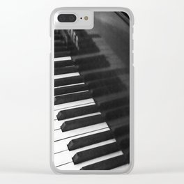 Old grand piano Clear iPhone Case