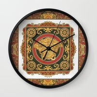 versace Wall Clocks featuring Classic Versace by Goldflakes