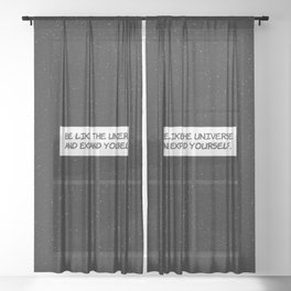 """Comic Book Panel: """"Be like the Universe and expand yourself"""" Sheer Curtain"""