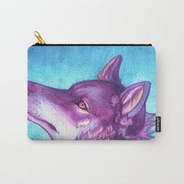 rainbow wolf Carry-All Pouch