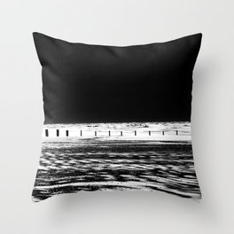 The Out-going Tide Throw Pillow