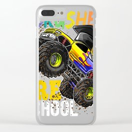 I Crushed Preschool Monster Truck Graduation Shirt Gift Boys Clear iPhone Case