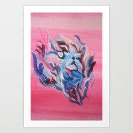 Flower in the sea Art Print