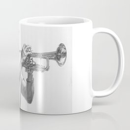 Trumpet Player (graphite) Coffee Mug