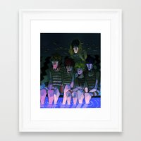 iwatobi Framed Art Prints featuring FREE! IWATOBI SWIM CLUB again by Frank Odlaws