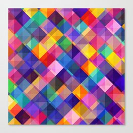 SQUARE--PATTERN Canvas Print