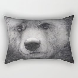 Bear Charcoal Rectangular Pillow