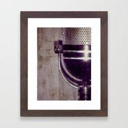 Vintage Microphone (scratched) Framed Art Print