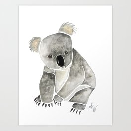 Koala Watercolor. Art Print