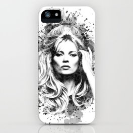 Watercolor Sixties Style Kate Moss iPhone Case