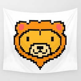 Pixel Lion Game Console Computer 16 Bit Vinatge Retro Gift Idea Wall Tapestry