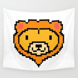 Pixel Lion Game Console Computer 16 Bit Vinatge Retro Gift Idea Wall Tapestry