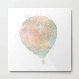 Hot Air Balloon Art Children Gift Colorful Watercolor Gift Vintage Hot Air Balloon Decor Metal Print