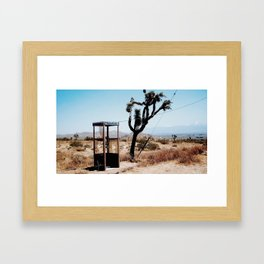 MOJAVE DESERT PHONE BOOTH Framed Art Print