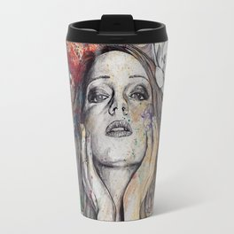 The Withering Spring (nude flower girl with magnolias) Travel Mug