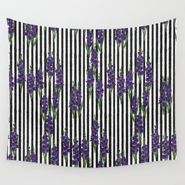 Gladiolus - Birth Month Flower for August Wall Tapestry