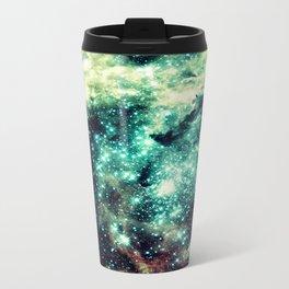 Galaxy Nebula Teal Travel Mug