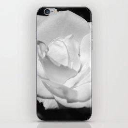 Heart Petal White Rose iPhone Skin
