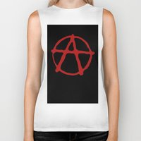 anarchy Biker Tanks featuring Anarchy by brett66