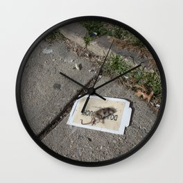 Do Not Touch Wall Clock