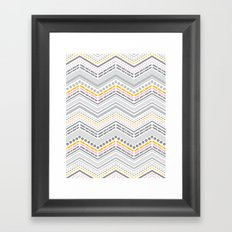 Dash & Dot - Neapolitan Chevron Framed Art Print