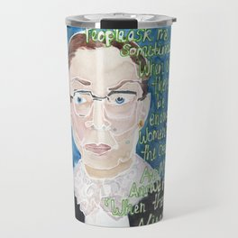 Ruth Bader Ginsberg Travel Mug